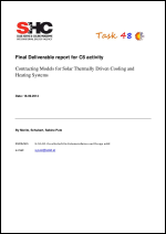 Final report on Contracting Models for Solar Thermally Driven Cooling and Heating Systems