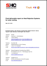 Final deliverable report on Heat Rejection Systems for solar cooling